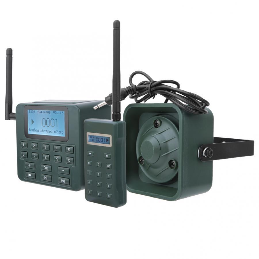 100W 200dB caza señuelo llamadas altavoz 500M Control remoto caza pájaro llamador MP3 reproductor temporizador altavoz alto 200 sonidos de aves