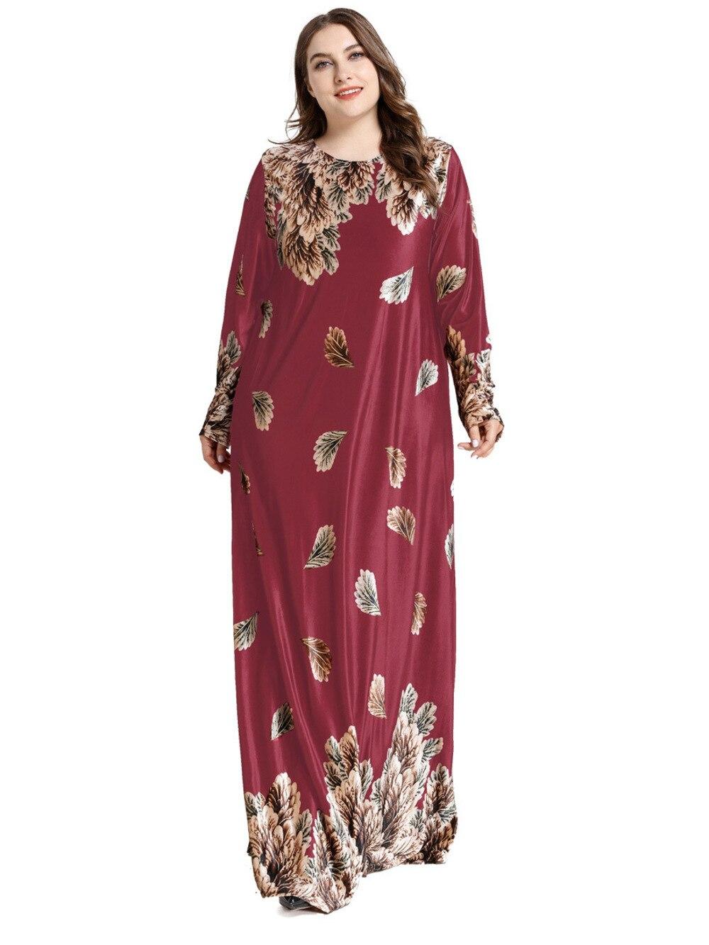 Ramadan Embroidery Dubai Plus Size Abaya Turkish Dress For Girls