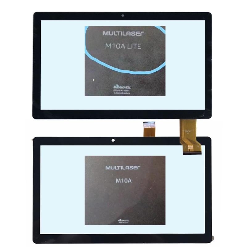 Novo digitalizador de tela de toque de 10.1 polegadas para modelos m10a multilaser nb322, nb253 e nb154/multilaser m10a lite nb263