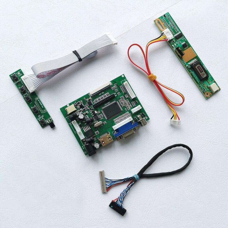 "For CLAA141XC01/CLAA141XF01 1024*768 HDMI VGA 2AV 14.1"" 20Pin LVDS 1CCFL laptop screen LCD screen controller drive board DIY set"