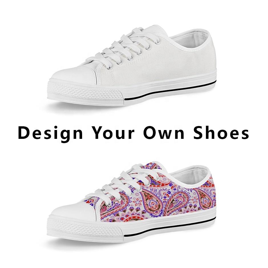 ELVISWORDS dibujos animados patrón lindo bajo estilo mujeres zapatillas lona vulcanizada Casual señoras Zapatos mujer pisos cómodos Zapatos