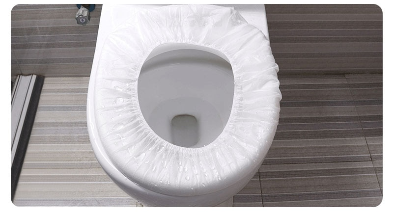 Toilet Seat Paper Lavatory Mat Set Too Lid Cover Cushion Seat Sleeve Portable Paper Pad Disposable Travel Bathroom 10pcs enlarge