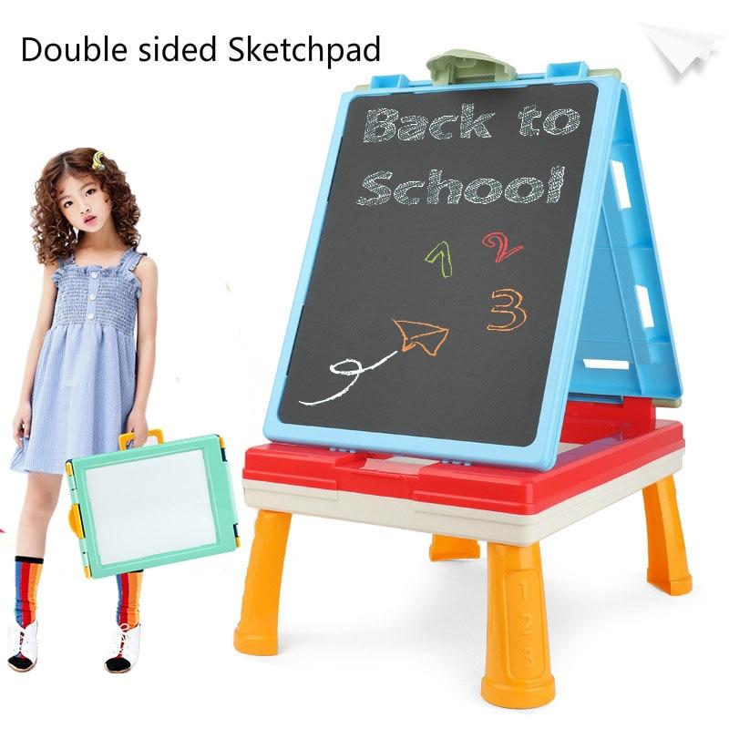 Placa de desenho do bebê dobrável crianças pintura blackboard desenho portátil pequena mesa crianças educação sketchpad brinquedo fácil de armazenar