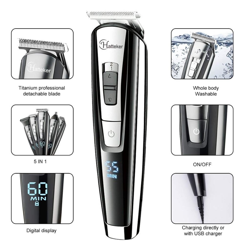 Facial body electric shaver grooming kit hair shaver for men wet dry beard shaving machine all in one electric razor 100v-240v enlarge