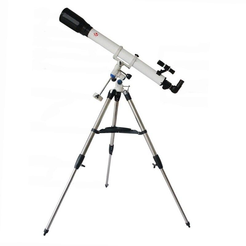 Telescopio astronómico profesional 90070EQ-T con montura Ecuatorial portátil y trípode para exteriores refractivo telescópico astronómico