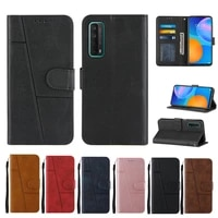 honor 8a phone case for huawei p smart 2021 y5p y6p 2020 y6 2019 flip protection cque retro leather splicing wallet cover funda