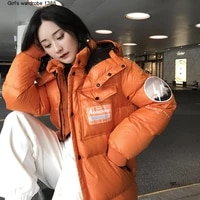m homes new winter 2020 90 white goose down to resist cold warm loose short down jacket winter