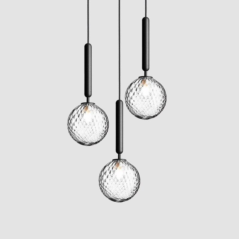 Lámparas con palo de cristal de diseño nórdico Luces con palo enteren...