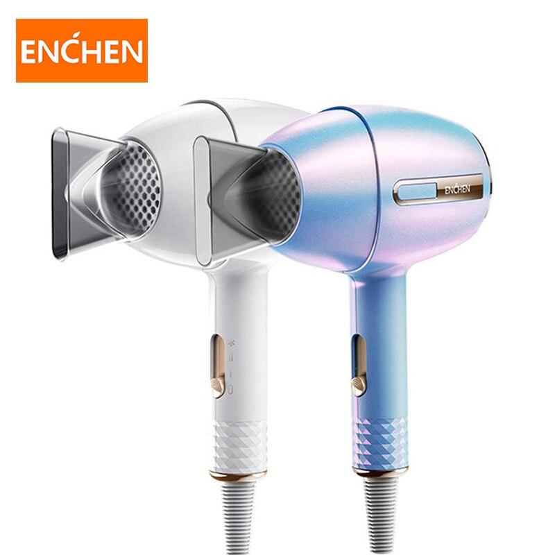 Enchen أنيون مجفف الشعر 1200 واط المهنية صالون حلاقة أدوات التصميم الساخن/الباردة الهواء مجفف للنفخ 3 سرعة تعديل 220 فولت مجفف شعر