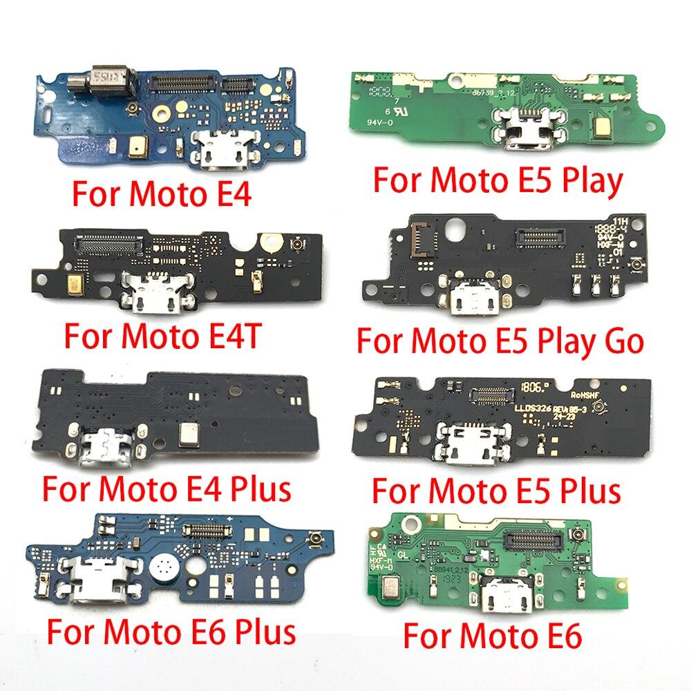 منفذ شحن USB ، 100 قطعة ، كابل موصل مرن لموتورولا موتو E3 E4 E4T E4 E6 E7 E5 G8 Plus E5 G8 Play Go Power