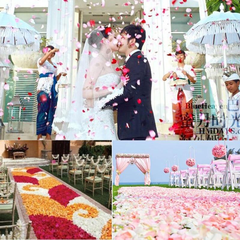 2000 vnt spalvingų dirbtinių rožių žiedlapių vestuvių petalas - Vestuvių priedai - Nuotrauka 2