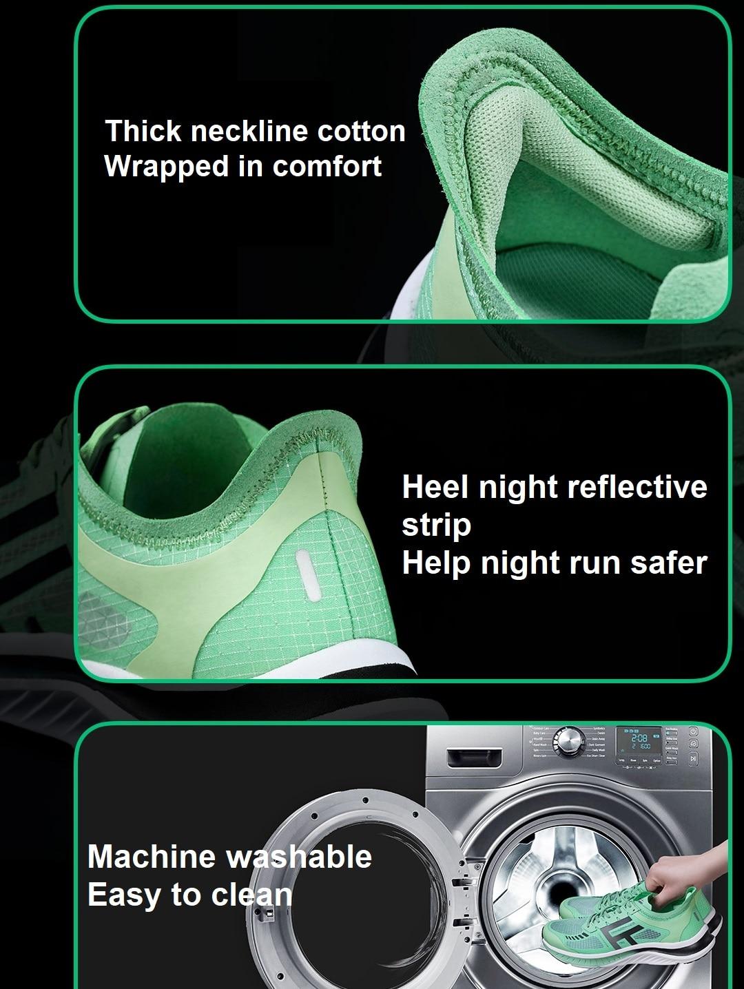 Xiaomi Mijia FREETIE Sneaker Walking Shoes European Size Flying Woven Running Sport Shoes Machine Washable Night Refective Strip