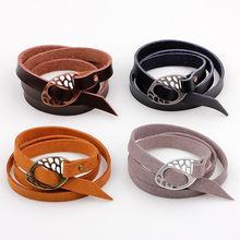 A variety of styles charm neutral leather bracelet black brown friendship bracelet jewelry fashion simple metal hook leather bra