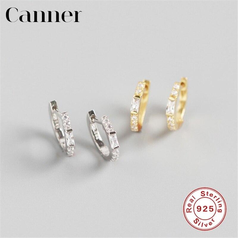 Pendientes de aro pequeños con circonita de cristal INS de color plata de oro europeo y americano para mujer, pendientes de plata 925, joyería de moda
