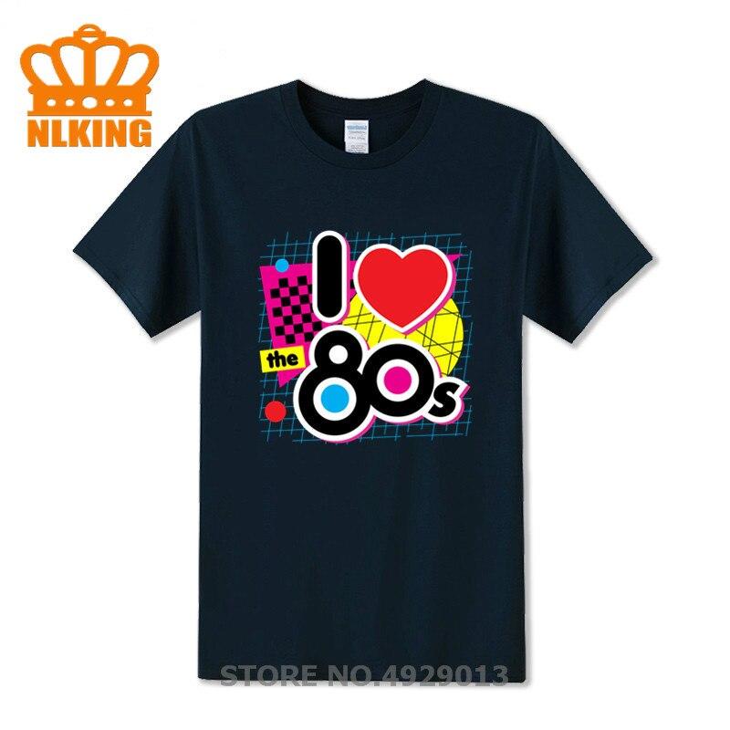Presente de aniversário eu amo o 80s camisa masculina t romântico outfit fantasia vestido moda masculina t camisa frete grátis casal camiseta superior 1