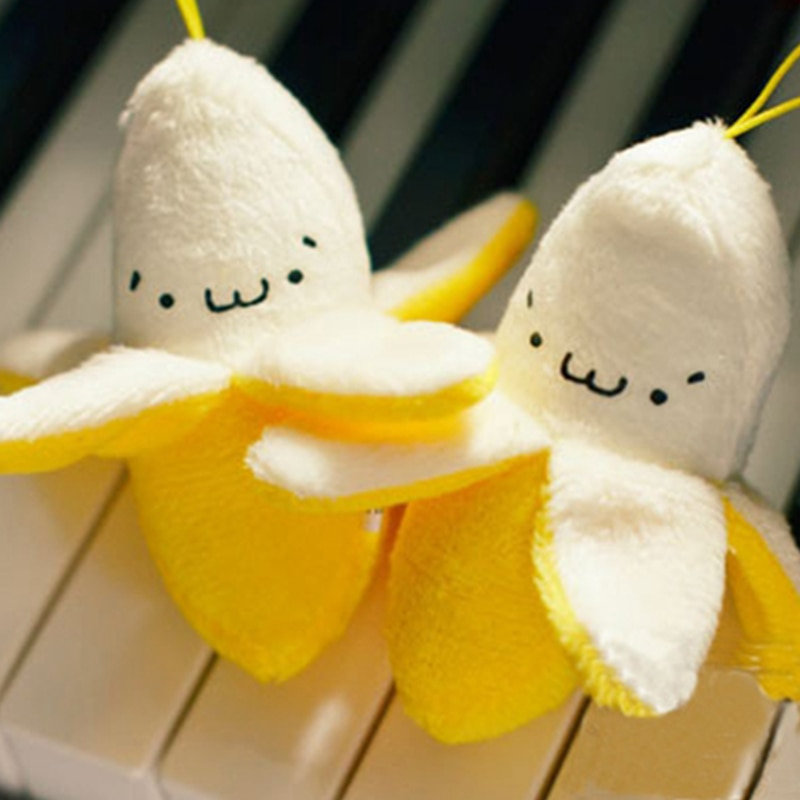 Pequeño Peluche pendiente de Banana muñeco de planta de Peluche Juguetes para niños Juguetes de Peluche llavero colgante juguete de Peluche Juguetes suaves