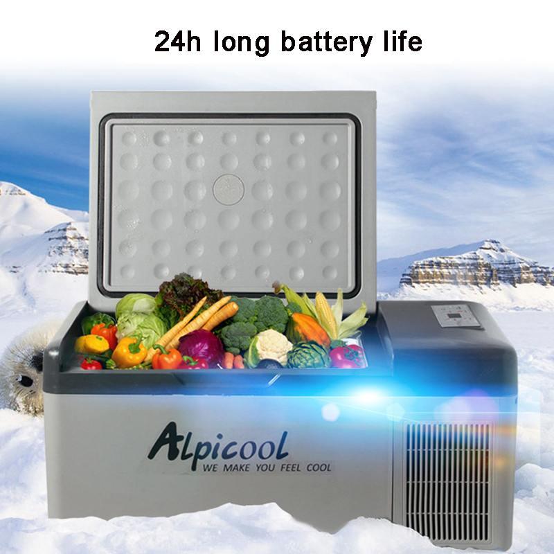 DC 12V 24V AC 220V Digital Display with APP Compressor Car Refrigerator Mini fridge freezer for Driving Travel Fishing Outdoor