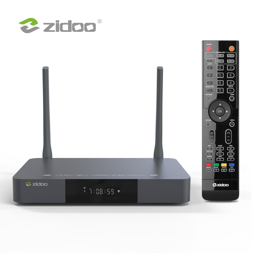 Zidoo Z9X Media Player 4K HDR10+ Android 9.0 Smart TV Box Dolby Vision 2G DDR4 16G eMMC Set Top Box