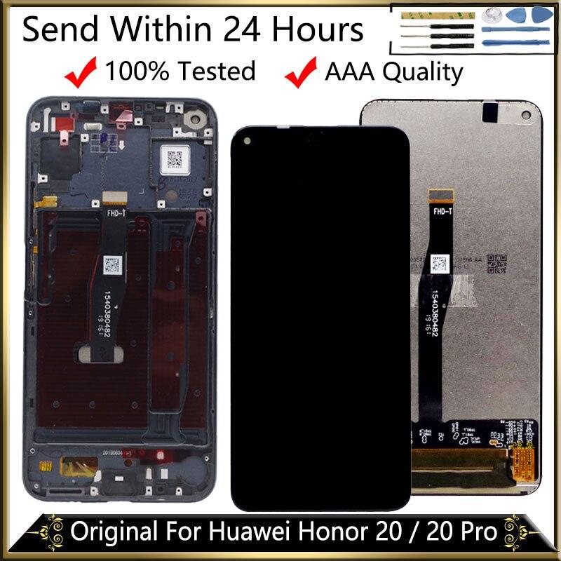 Original Lcd para Huawei Honor 20 Lcd YAL-L21 pantalla Digitalizador de pantalla táctil para reemplazar Huawei Honor 20 Pro LCD YAL-AL10 YAL-L41