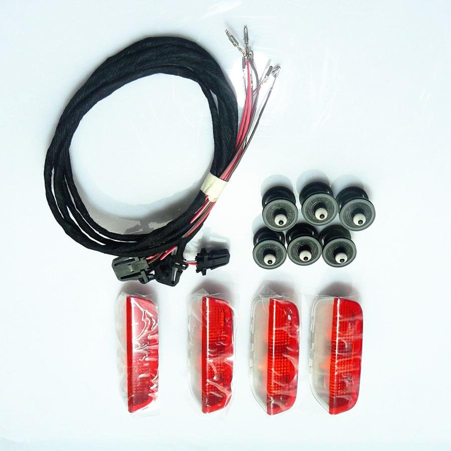 Costlyseed porta luz de advertência & cabo & clipes para golf mk5 mk6 passat b6 b7 touareg 1k0 947 411 a 3ad 947 411 7l6868243