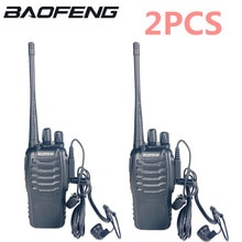 2 шт./лот baofeng BF 888S иди и болтай Walkie talkie двухстороннее радио комплект BF 888s UHF 400 470 МГц 16CH для переносного приемо передатчика радио приемопередатчик