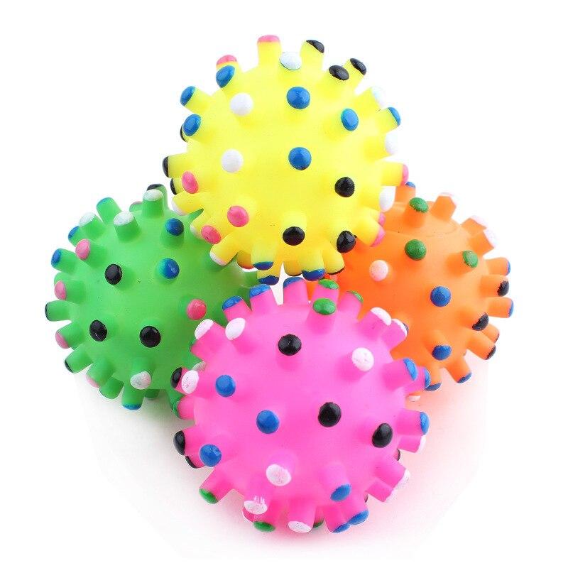 6.5cm Durable Squeaky Pet Dog Ball Toys Pet Products Dog Supplies Pets Dogs Toys Balls Squeaky Toy Quack