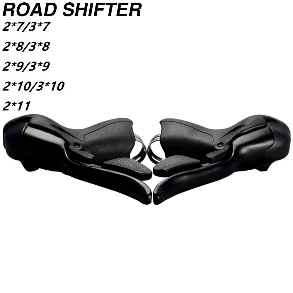 Juego de cambios STI para bicicleta de carretera, con doble velocidad de 2x7, 3x7, 7 s, 14s, 21s, 7 velocidades, palancas de freno compatibles con Shimano Sram
