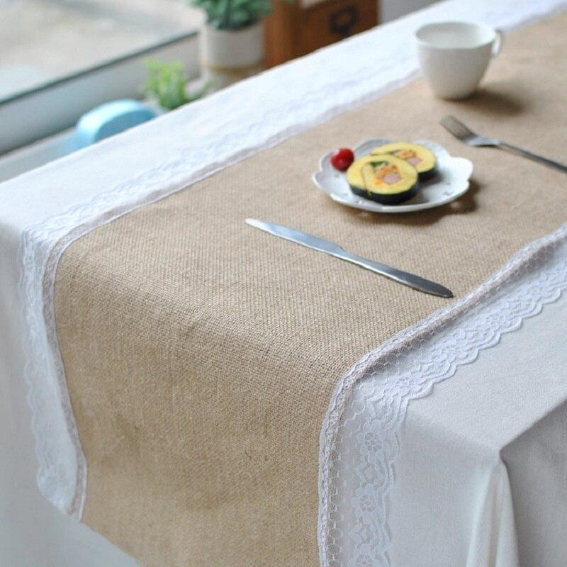 مفرش طاولة من الجوت والدانتيل ، غطاء مكتب ، ديكورات منزلية للزفاف ، عازل حراري ، وعاء ، سجادة ، 30x27 سم