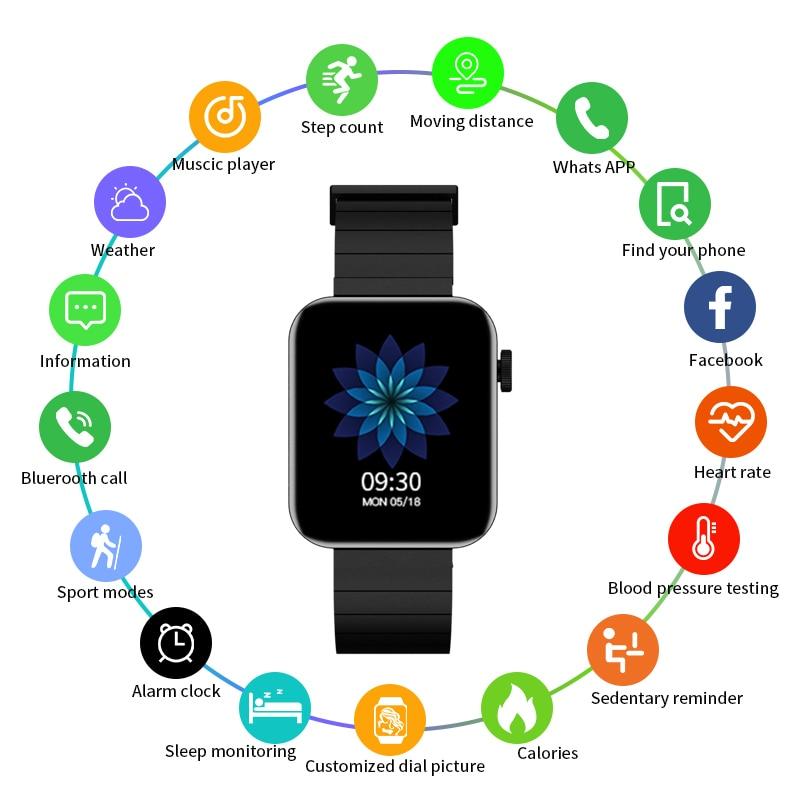 Reloj inteligente K70 para hombre y mujer, pulsera con llamadas, Bluetooth, resistente al agua, llamadas, EMS, Control del ritmo cardíaco, música, cámara, para Xiaomi y Apple Phone