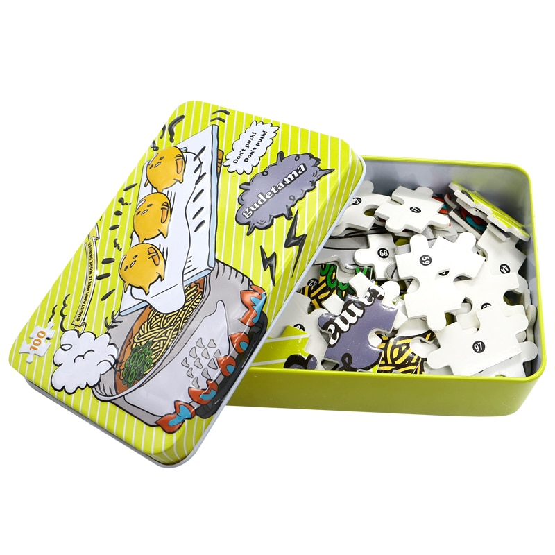 Gudetama головоломки детские головоломки puzzleTin коробка упаковка 100 шт