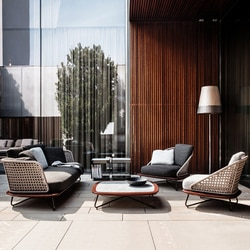 Alta qualidade de madeira teca móveis ao ar livre telhado superior pátio jardim conjuntos
