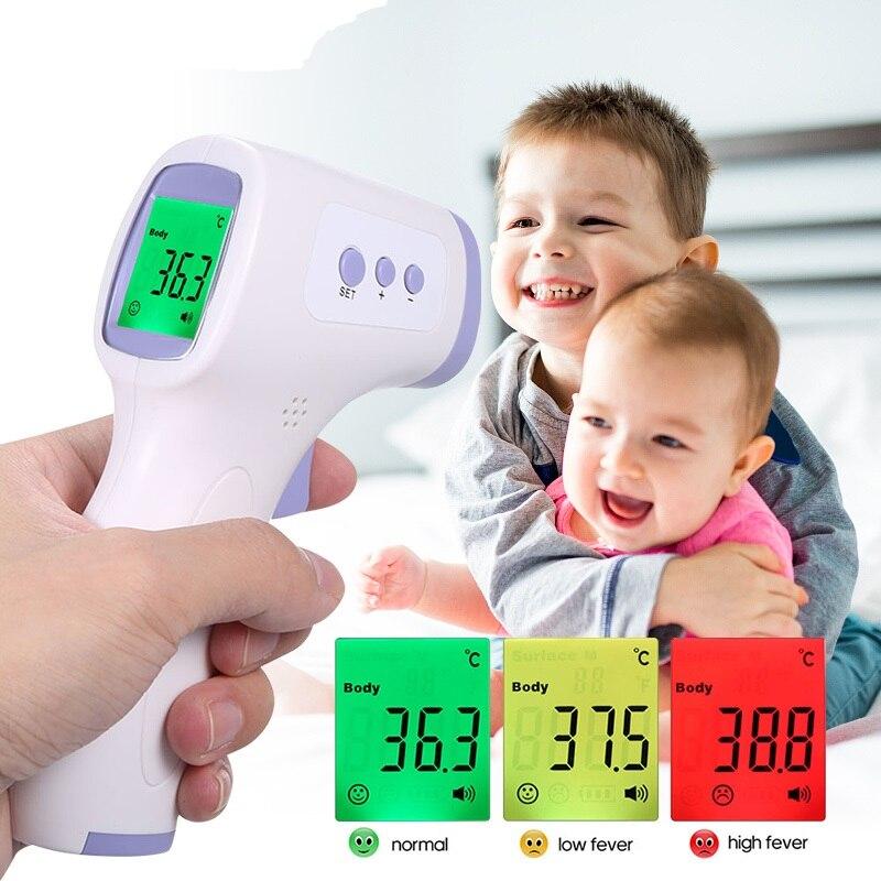 Цифровой термометр для лба, Бесконтактный инфракрасный медицинский термометр для измерения температуры тела, инструмент для измерения температуры тела для детей и взрослых