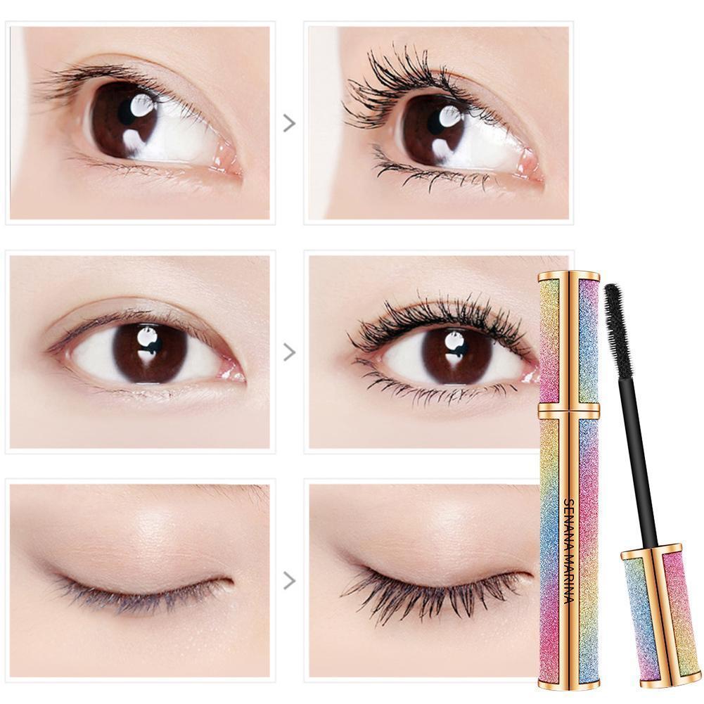 Mascara Fast Dry Lengthening Eyelashes Waterproof Long Lasting Lash Black Thick Curling Natural Eye Cosmetics Makeup Big Eye