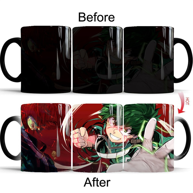 My Hero Academia Cup Cosplay Prop Color Changing Mug Office Water Cup Coffee Cup