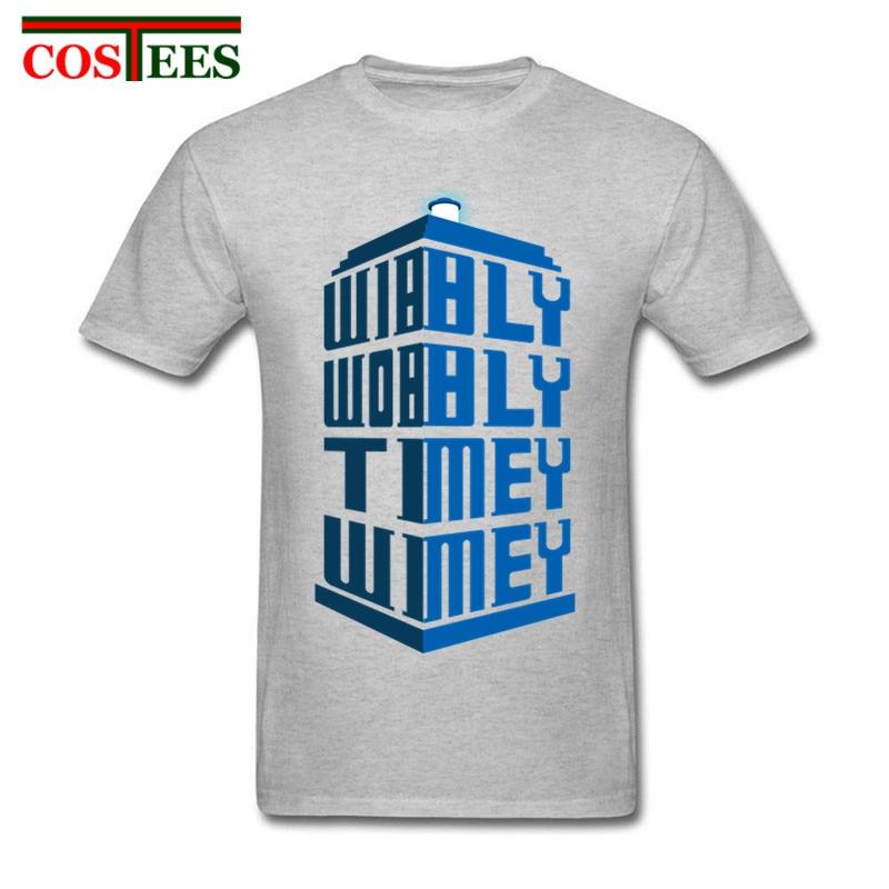 16 colores moda fascinante Doctor Who camisetas hombres DR who Wibbly Wobbly Timey Wimey camiseta para hombre Día del Padre regalo único de moda