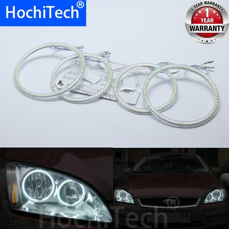 Ultra brillante SMD LED blanco angel eyes halo ring kit luz diurna DRL para Ford Focus II Mk2 2004-2008 estilo de coche