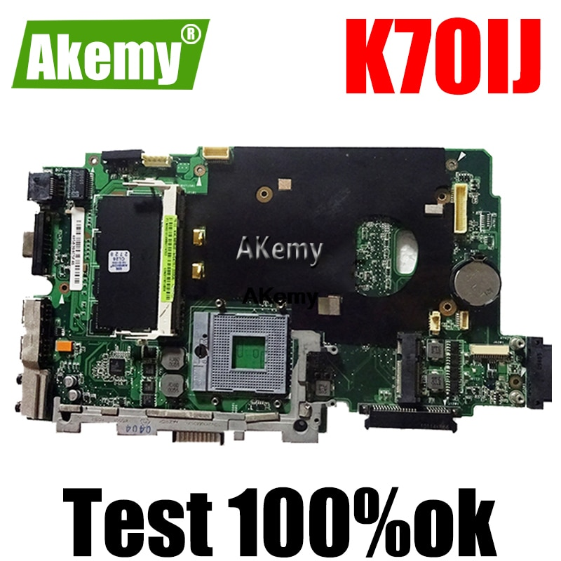 K70IJ اللوحة الأم DDR2 2G RAM ل For Asus K70I K70IJ اللوحة المحمول K70IJ اللوحة الرئيسية اختبار 100% OK