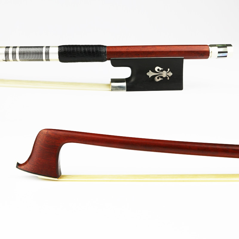 surveal handmade master carbon fiber cello bow natural white horse hair ebony frog carved best elastic with warm sound size 4 4 NEW Master Pernambuco Violin Bow 4/4 Size Ebony Frog Natural Horsehair Fast response Violin Parts Accessories