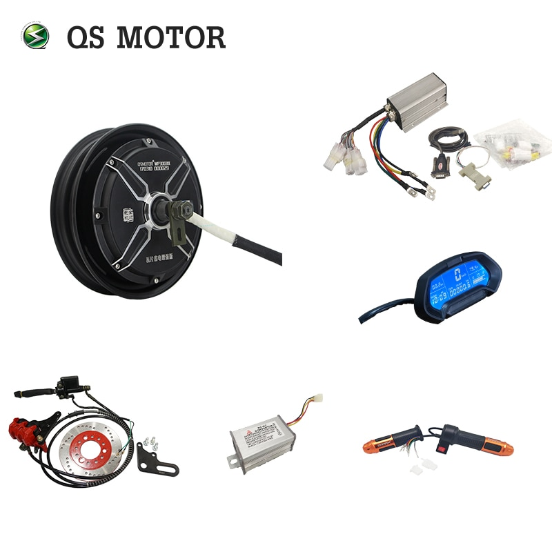 QS Motor 10inch 1500W 205 45H V1 Brushless DC Electric Scooter Hub Motor scooter vacuum tire motor front hub 10 inch electric scooter 36v48v brushless motor 500w