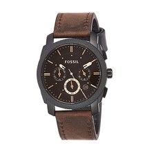 Montre fossile hommes Machine taille moyenne chronographe montre avec cuir marron Sport montre analogique cadran marron montre pour hommes FS4656