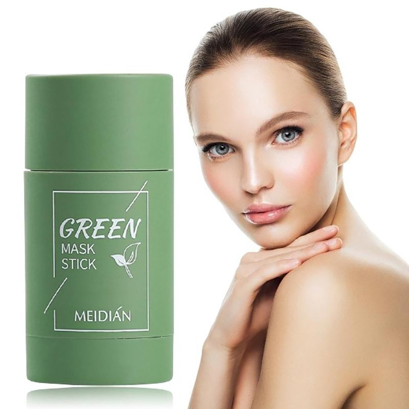 Green Tea Purifying Masks Clay Stick Oil Control Anti-Acne Eggplant Fine Cleaning Mask Whitening Ski