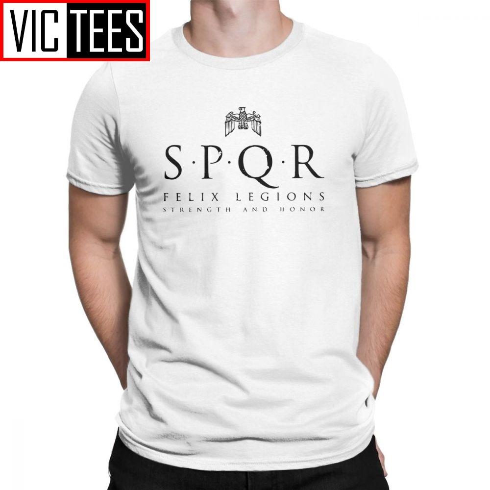 גברים SPQR חולצה רומי אימפריה צבאי רומאים מקסימוס גלדיאטור רומא צבא כיף T חולצה גברים בגדי קלאסי Tees