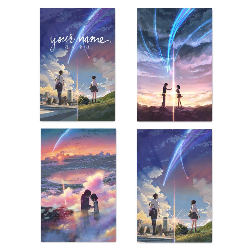 Manga Film Poster Anime Movie Prints Your Name Poster Kimi No Na Wa Wall Art Pictures 40x60 50x75cm Cartoon Love Silk Painting