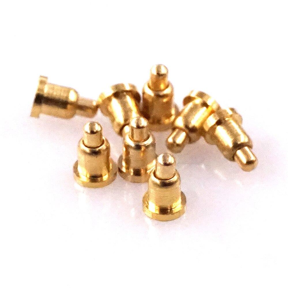 بوجو دبوس البطارية موصل قطر 2.0 مع 3.0 مللي متر هيغث النحاس المواد مع مطلية بالذهب 3u قوة 50g