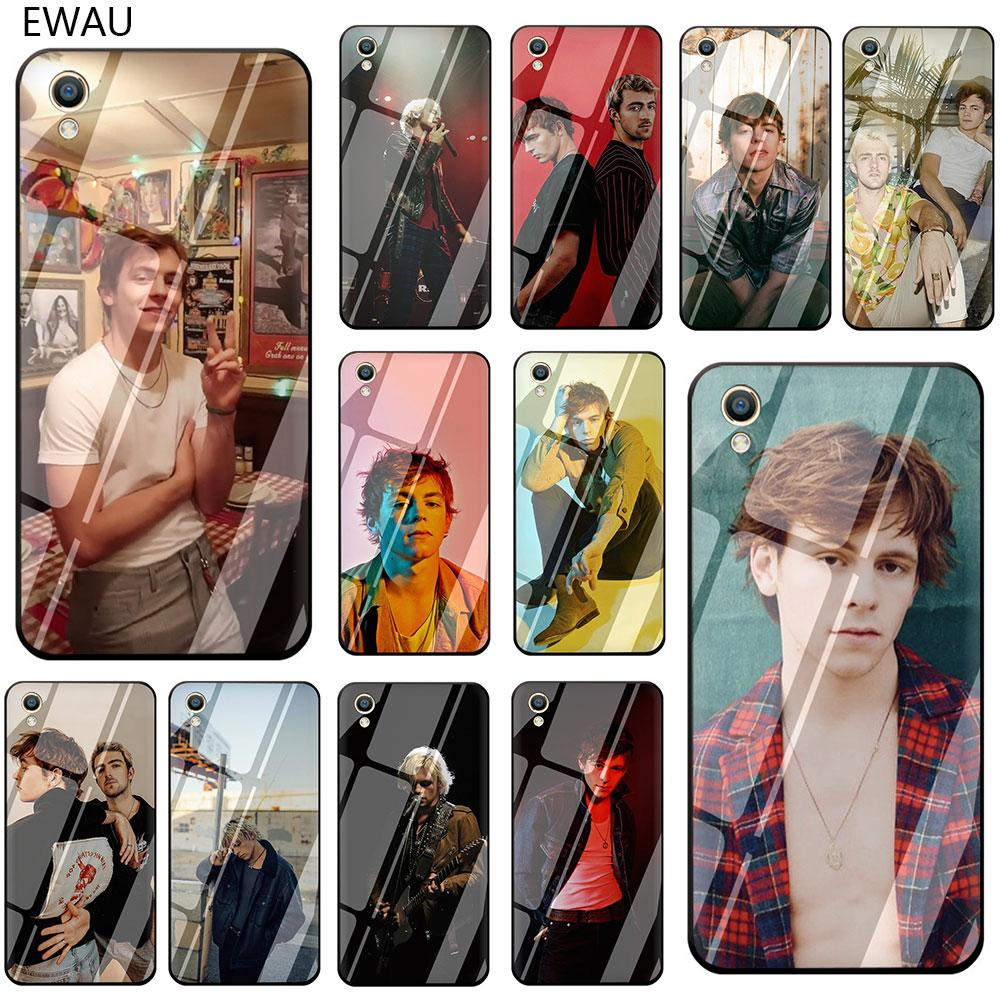 EWAU Ross Lynch R5 Band funda de teléfono de vidrio templado para OPPO A7 A5s AX7 AX5s A37 A77 A7X F3 f5 F7 F9 F11 Pro
