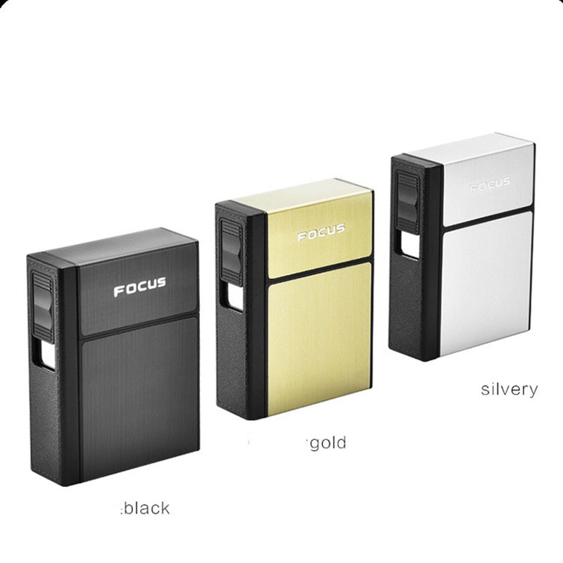 Portable Cigarette Case Box with USB Electronic Lighter Hold 20Pcs Cigarette Waterproof Box disassembly USB Lighter Mens Gifts enlarge