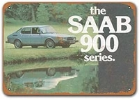 tin signs cars metal vintage home coffee club restaurant dorm 1979 saab 900 automobiles poster office 12x8 inches