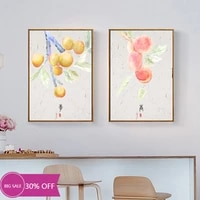Peinture sur toile de decoration de noel  affiche murale de fruits  Art Mural chinois pour decoration de salon  decoration de maison