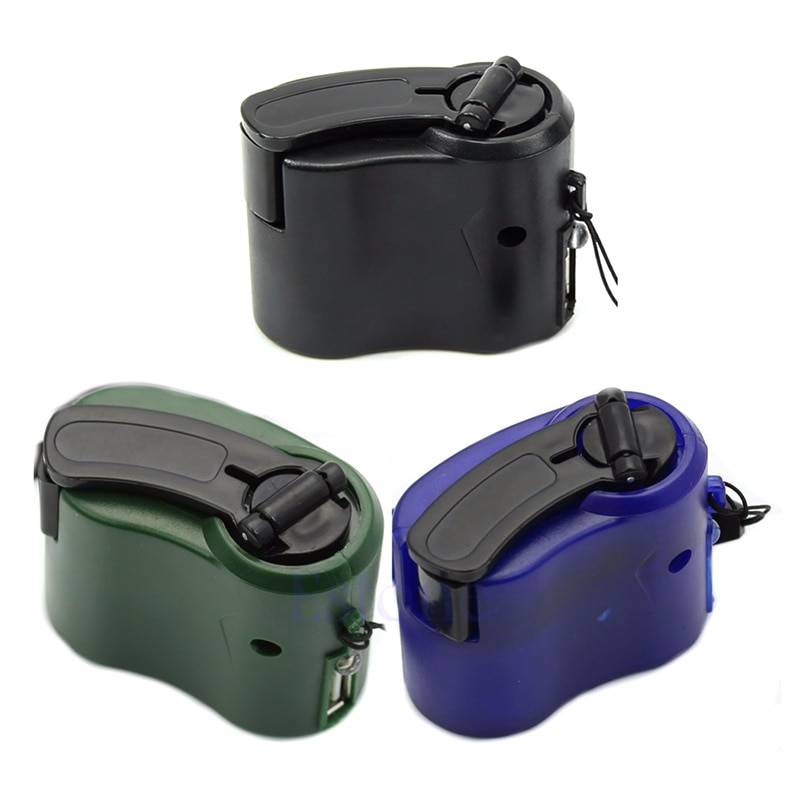 Compact Hand Crank Charger Manual Generator Mobile Phone Emergency Charger Usb Charger Stay Connecte
