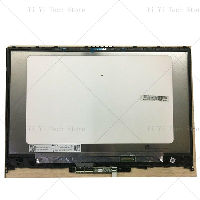 شحن مجاني لينوفو IdeaPad C340-14 C340-14API 81N6 81N60030FR IPS LCD عرض الجمعية مع اللمس الزجاج Digiitzer لوحة